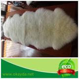 Coperta australiana del doppio della pelle di pecora con colore tinto personalizzato di punta della neve per la decorazione domestica