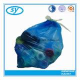 プラスチックマルチカラー頑丈なドローストリングのごみ袋