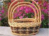 Cesta casera hecha a mano del sauce de cesta de mimbre de la cesta del regalo de la cesta de la comida campestre de la decoración