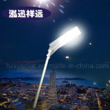 Luz de rua solar do diodo emissor de luz do poder superior do preço de fábrica com 5 anos de garantia