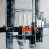 Peinture d'horizontal abstraite pour la décoration de mur