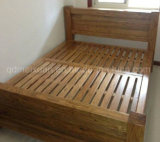 固体木のベッドの現代ダブル・ベッド(M-X2249)
