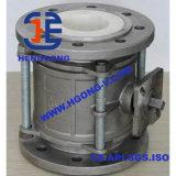 Robinet à tournant sphérique modifié en céramique en aluminium de la bride API/DIN de traitement