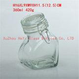 contenitore di vetro dell'alimento 450ml di immagazzinamento in di vetro il vaso con il cucchiaio di plastica