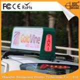 O dobro toma o partido sinal de anúncio superior do diodo emissor de luz do táxi da cor cheia