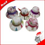 印刷された日曜日の女性の麦わら帽子