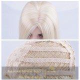 Producto de pelo rubio de la peluca de la parte media sintética larga recta al por mayor