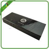 Caixa de empacotamento de papel preta lustrosa feita sob encomenda do projeto da forma