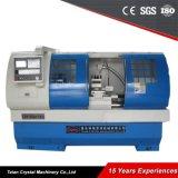 Máquina automática do torno da base lisa do torno Ck6150A da estaca da barra do CNC