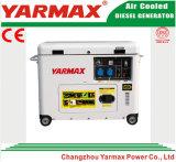 тип охлаженный воздух портативного тепловозного генератора 6kVA молчком