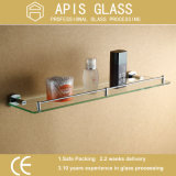 10mm Prateleira de banheiro temperada / temperada / vidro de segurança com bordas polidas