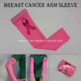 Pensar a luva cor-de-rosa do braço de mão da compressão da consciência do cancro da mama