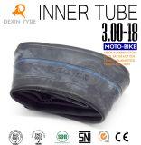 Cámara butílica original 3.00-18 de la bici del motor del tubo interno del tubo de la motocicleta del tubo