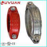 Encanamento Grooved do ferro Ductile do UL Aprrovals de FM e acoplamento rígido