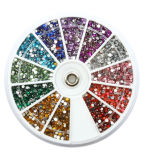 Flat redondo Back Rhinestone Wheel para Card Making Decoration (GSK-12P2)