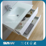 Heißer Verkauf anstreichender weißer MDF-Badezimmer-Schrank mit Wanne (SW-1302)