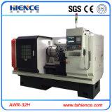 平床式トレーラーBMWの合金の車輪修理CNCの旋盤の縁修理機械Awr32h
