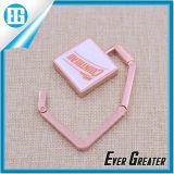 Розовая квадратная изготовленный на заказ вешалка мешка металла текста логоса