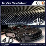 стикер автомобиля Rolls винила волокна углерода 4D, стикер винила автомобиля