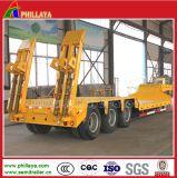 De Aanhangwagen van Lowbed van de Vrachtwagen van de Vervoerder van het Graafwerktuig van de zwaar-afstand 60tons