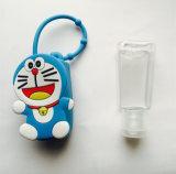 Botella vacía plástica promocional del desinfectante 29ml con el sostenedor del silicón