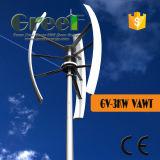 AC Syhchronous 3kw de Verticale Turbine van de Wind van de As met Fase 3