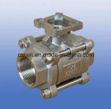 valvola a sfera del rilievo di montaggio di 2PC ISO5211 Ss316