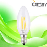 130lm/W CRI>80 2W 4W LED Filament Candle
