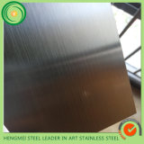 Metal de pintura colorido ouro inoxidável da cor do cetim da linha fina da chapa de aço 304 para o painel da decoração