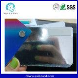 Cartão UV do plástico do efeito da impressão de laser do ponto