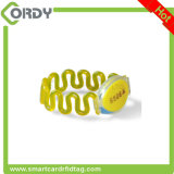 wristband plástico de 125kHz/13.56MHz RFID para a sauna/piscina