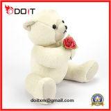 Jouet d'ours de nounours de peluche de jouet de Rose de peluche avec Rose