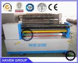 Máquina de dobra assimétrica padrão da placa de três rolos do CE, máquina de rolamento ecomical W11-3X1500 de três rolos
