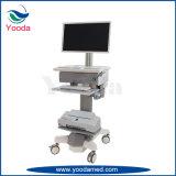 Carrello del computer portatile dell'ospedale di registrazione di altezza