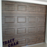 Electronic Wood Grain Sectional Garage Door