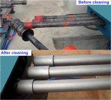 Máquina de la limpieza del chorreo con granalla de la pared externa de la pipa de acero del transportador de rodillo