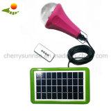 太陽照明装置ホームキャンプLED 5W 2800mAhのリチウム電池太陽キットライト