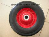 Una rotella di gomma solida da 10 pollici
