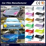 Color ligero del coche que cambia envolviendo la película del tinte de la linterna