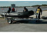 Aqualand 16FT 4.7m Semi-Rigid Inflatable BoatかMilitary Rescue Boat (470)