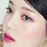 sombra de ojo mate duradera del brillo de la gama de colores profesional del sombreador de ojos con el cepillo Es0332