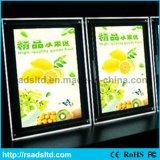 Bâti de cadre léger en cristal de menu de DEL pour le restaurant