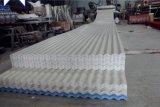 Colorear la hoja a prueba de calor acanalada plástico revestido del material para techos del PVC