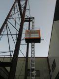 ホツプの深い電流を通されたマストセクションが付いている建物によって使用される単一のケージの構築の起重機