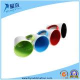 taza de cerámica de la sublimación del color de Rim&Inner del cono 12oz