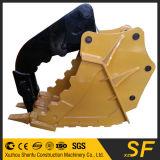 La position d'encavateur d'excavatrice, attaquent la position, position de pouce