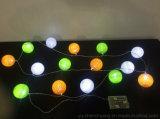 Indicatori luminosi della stringa delle sfere di cotone per la decorazione 10LEDs a pile