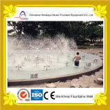 Fontana di acqua rotonda dello stagno della plaza con gli ugelli registrabili