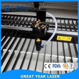 Gravador e cortador de laser com tabela para cima e para baixo