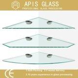 verres de sûreté de flottement d'étagère de salle de bains de 6mm gâché/durci/avec les bords Polished